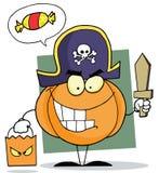 Cartoon character halloween pumkin bag Royalty Free Stock Photos