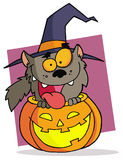 Cartoon character halloween werewolf Stock Photos