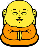 Cartoon Character Happy Buddhist Smile Royalty Free Stock Image