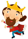 Cartoon character - happy king Stock Photography