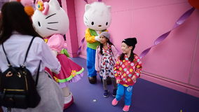 Cartoon Character Hello Kitty stock video