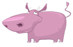 Cartoon Character Hippopotamus Stock Image