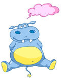 Cartoon Character Hippopotamus Royalty Free Stock Images