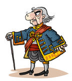 Cartoon character in historical costume. vector illustration