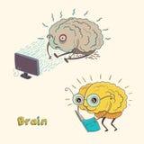 Cartoon character human brain Stock Images