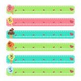 Cartoon character ice cream web banners Stock Image