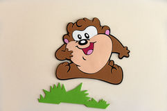 Cartoon character III. Rubber applique to the animated character Royalty Free Stock Photo