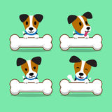 Cartoon character jack russell terrier dog with big bones. For design Royalty Free Stock Photography