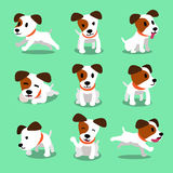 Cartoon character jack russell terrier dog poses Stock Images