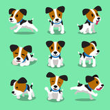 Cartoon character jack russell terrier dog set Royalty Free Stock Images