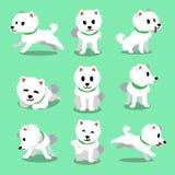 Cartoon character japanese spitz dog poses Royalty Free Stock Images