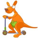 Cartoon Character Kangaroo. Isolated on White Background royalty free illustration