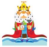 Cartoon character.  King plumber Royalty Free Stock Photography