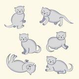 Cartoon character kitten Royalty Free Stock Photos