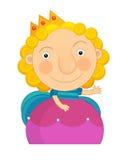 Cartoon character -  little girl  - isolated Stock Photo