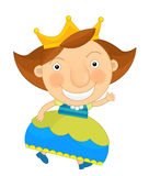 Cartoon character -  little girl  - isolated Royalty Free Stock Photos