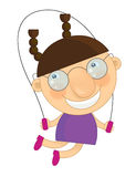 Cartoon character -  little girl  - isolated Stock Photography