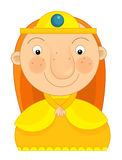 Cartoon character -  little girl  - isolated Royalty Free Stock Photography