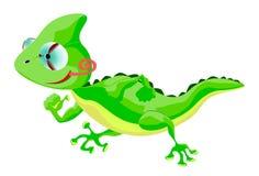 Cartoon Character Lizard. Cute lizard is running away Royalty Free Stock Photos