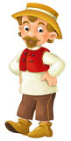 Cartoon character - male farmer -  Stock Image
