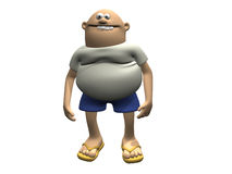 Cartoon Character Man With Belly 2 Royalty Free Stock Images