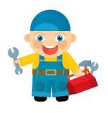 Cartoon character - mechanic Royalty Free Stock Image