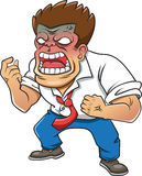 Cartoon Character Men Engry.on a white background Royalty Free Stock Images