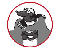 Cartoon Character Mole  on White Background. Stock Photos