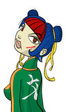 Cartoon character ninja gal. Cartoon character of some type of ninja gal, without background Royalty Free Stock Photo