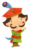 Cartoon character - nobleman - isolated Royalty Free Stock Photography