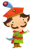 Cartoon character - nobleman - isolated Stock Photography