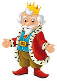 Cartoon character - nobleman - king -  Royalty Free Stock Image