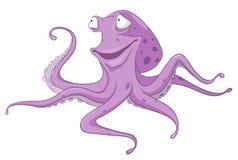 Cartoon Character Octopus Royalty Free Stock Photography