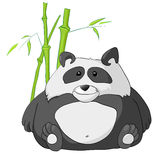 Cartoon Character Panda Stock Images