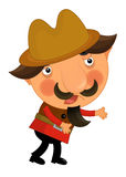 Cartoon character - peasant or undercover nobleman - isolated Stock Photography