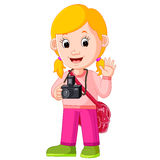 Cartoon character - photographer Royalty Free Stock Photography