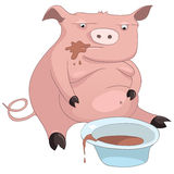 Cartoon Character Pig Stock Images