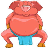 Cartoon Character Pig Royalty Free Stock Images
