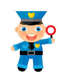 Cartoon character - policeman Stock Photos