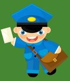 Cartoon character - postman Stock Photos