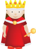 Cartoon character of a queen Stock Photo