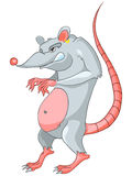 Cartoon Character Rat. Isolated on White Background royalty free illustration
