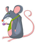 Cartoon Character Rat Stock Image