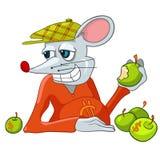 Cartoon Character Rat. Isolated on White Background stock illustration