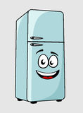 Cartoon character refrigerator with a smiling face Stock Photos