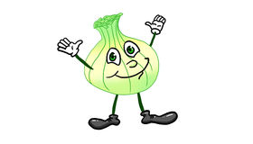 Cartoon character representing an onion illustration. Cartoon character representing an onion on white background illustration Stock Photography