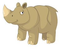 Cartoon Character Rhino Stock Images
