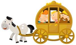Cartoon character - royal family -  Royalty Free Stock Photo