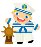 Cartoon character - sailor Royalty Free Stock Photo