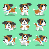 Cartoon character saint bernard dog poses Royalty Free Stock Image